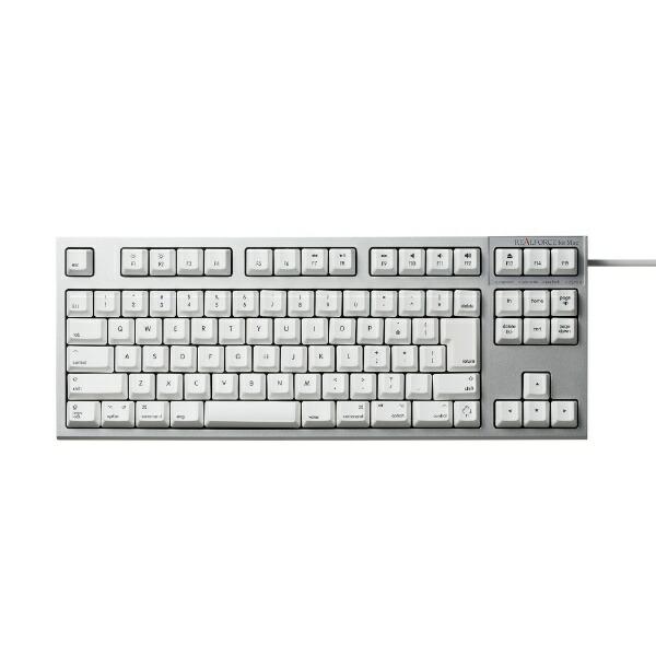 東プレTopreR2TL-JPVM-WHキーボードREALFORCETKLforMacシルバー/ホワイト[USB/有線][R2TLJPVMWH]