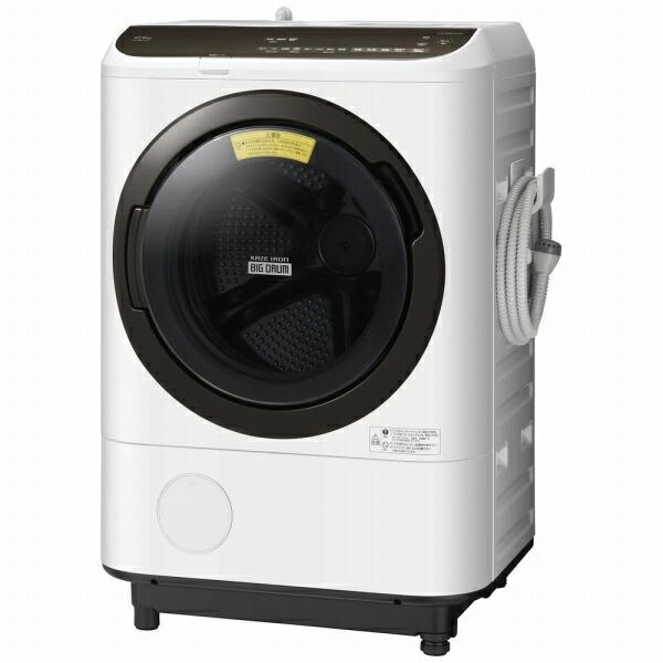 日立HITACHIBD-NBK120ER-Wドラム式洗濯乾燥機ホワイト[洗濯12.0kg/乾燥6.0kg/ヒーター乾燥/右開き][洗濯機12kg][BDNBK120ER]【point_rb】
