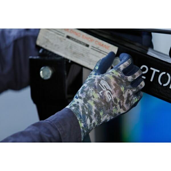 東和コーポレーションTOWACORPORATIONトワロン天然ゴム背抜き手袋SG−R107ぼかし柄グレーLLSG-R107-LL