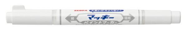 ゼブラZEBRAマッキーペイントマーカー極細白YYTS20-W