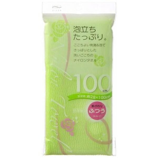 アイセンaisenナイロンタオル100cmふつうグリーングリーンBHN01