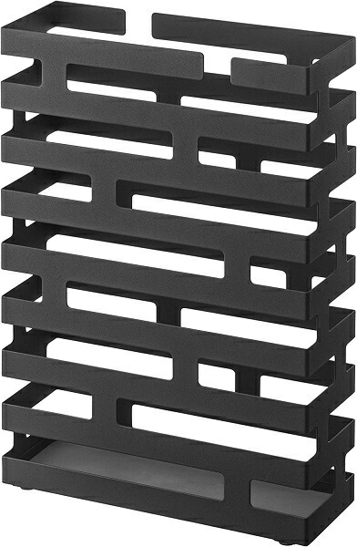 山崎実業Yamazaki02361傘たてブリックワイドブラック(BRickRectangularUmbrellaStandBK)ブラック[2361]
