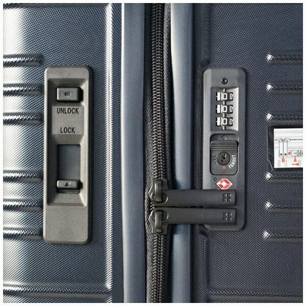 東急ハンズhands+スーツケースカラーシリーズジップミッドナイトブルー[35L]