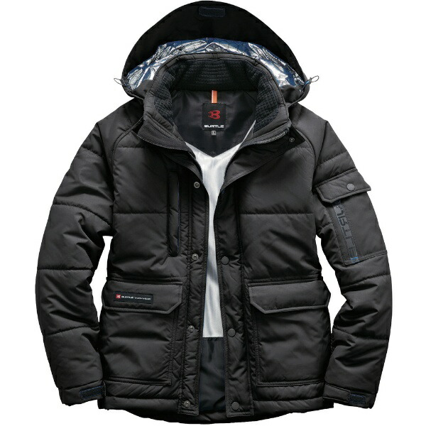 バートルBURTLEバ−トル防寒ジャケット7510−35−3Lブラック7510-35-3L