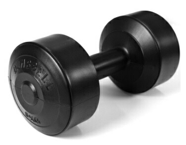 La-VIEラ・ヴィダンベルビルドダンベル(5kg/ブラック)3B-3445【重量固定式】