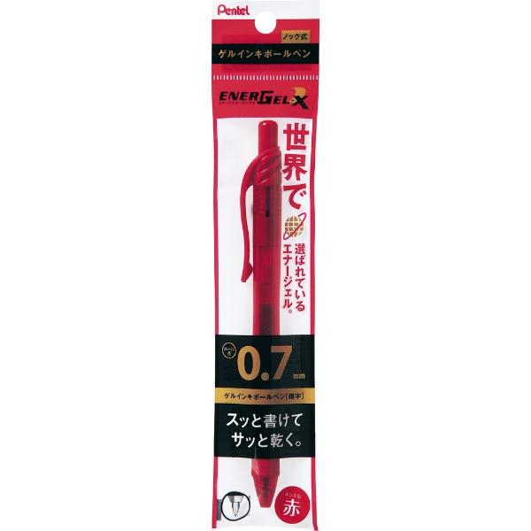 ぺんてるPentelパックエナージェルBL107赤XBL107-B
