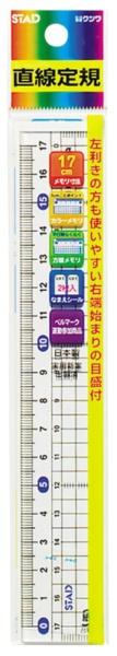 クツワKUTSUWAメタクリル直線定規(17cm)HS180