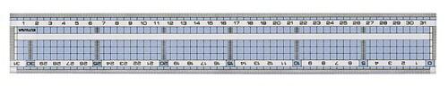 クツワKUTSUWA直線定規31cmHS320C