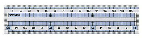 クツワKUTSUWA直線定規15cmHS160C