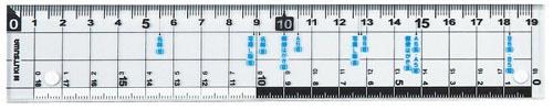 クツワKUTSUWAサイズカッター定規19cmKB015