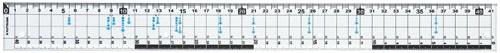 クツワKUTSUWAサイズカッター定規41cmKB017