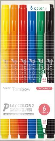 トンボ鉛筆Tombow水性サインペンTP6CパックGCB-611