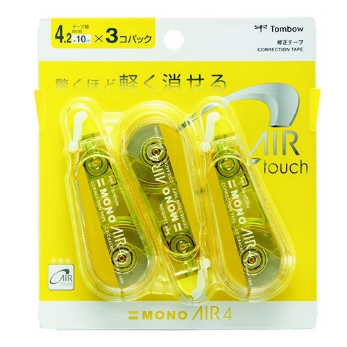 トンボ鉛筆Tombow修正テープモノエアー4Cライム3PパックKPB-321