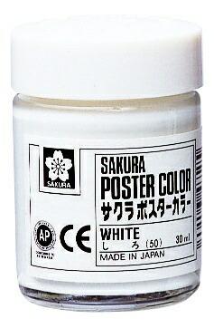 サクラクレパスSAKURACOLORPRODUCTポスターカラー30ml白