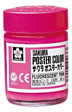 サクラクレパスSAKURACOLORPRODUCTポスターカラー30ml蛍光ピンク