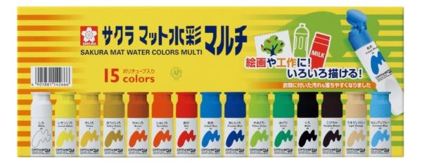 サクラクレパスSAKURACOLORPRODUCTマット水彩マルチ15色ポリ