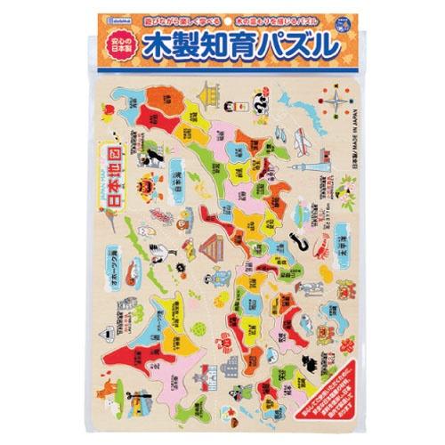 デビカDEBIKA木製知育パズル日本地図113004