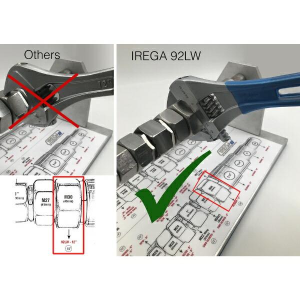 IREGAイレガIREGA軽量モンキーレンチ92LWプラスチックコーティング92LWD-12