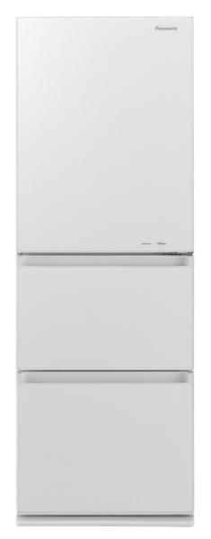 パナソニックPanasonic《基本設置料金セット》NR-C341GCL-W冷蔵庫GCタイプスノーホワイト[3ドア/左開きタイプ/335L][冷蔵庫大型]