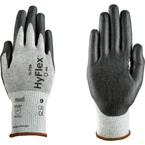 アンセルAnsellアンセル耐切創手袋ハイフレックス11−738Sサイズ11-738-7