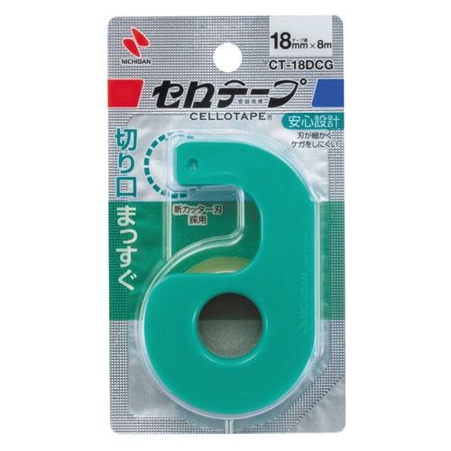 ニチバンNICHIBANセロテープ小巻カッター付18mmグリーンCT-18DCG