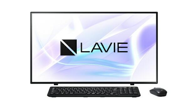 NECエヌイーシーPC-HA970RABデスクトップパソコンLAVIEHomeAll-in-one(HA970/RAダブルチューナ搭載)ファインブラック[27型/HDD:3TB/SSD:256GB/メモリ:8GB/2020年春モデル][27インチoffice付き新品一体型windows10]