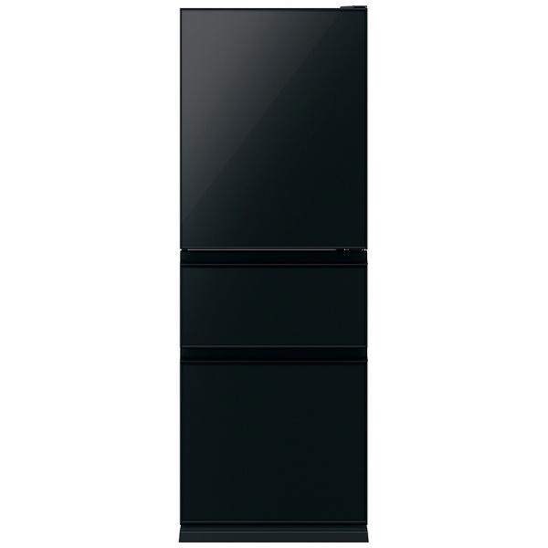 三菱MitsubishiElectric《基本設置料金セット》MR-CG33TEL-B冷蔵庫CGシリーズクリスタルブラック[3ドア/左開きタイプ/330L][冷蔵庫大型]【zero_emi】