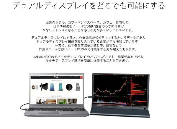 JAPANNEXTジャパンネクストJN-MD-133BFHDRUSB-C接続PCモニター[13.3型/ワイド/フルHD(1920×1080)][13.3インチ液晶モニター液晶ディスプレイ]