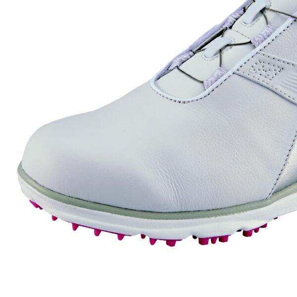 フットジョイFootJoy24.0cm/W:3E相当レディースゴルフシューズFJPRO/SLBoaプロSLボア(ホワイト×ピンク)98129