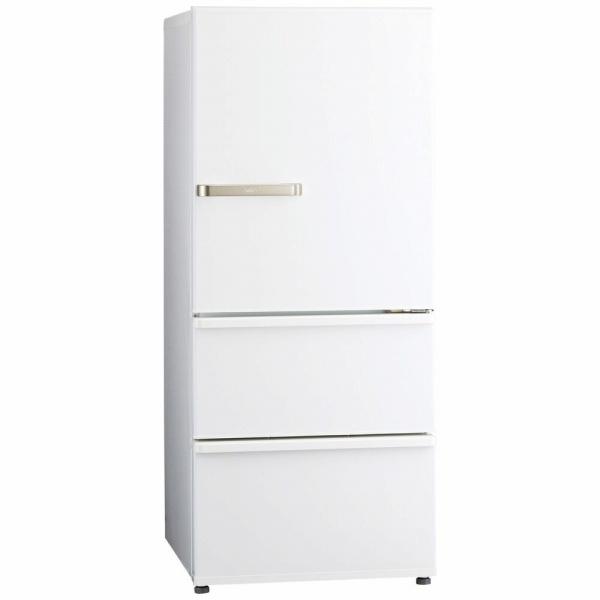 AQUAアクア《基本設置料金セット》AQR-27J-W冷蔵庫ウォームホワイト[3ドア/右開きタイプ/272L][冷蔵庫大型]