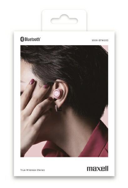 マクセルMaxellフルワイヤレスイヤホンMXH-BTW500PKピンク[ワイヤレス(左右分離)/Bluetooth]