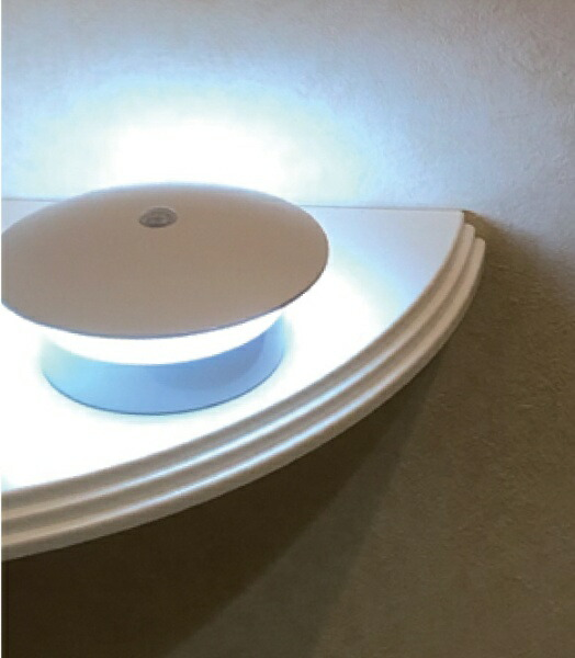 リーベックスREVEXセンサーライトやさしく光る丸型ホワイトSL101[白色/乾電池式]