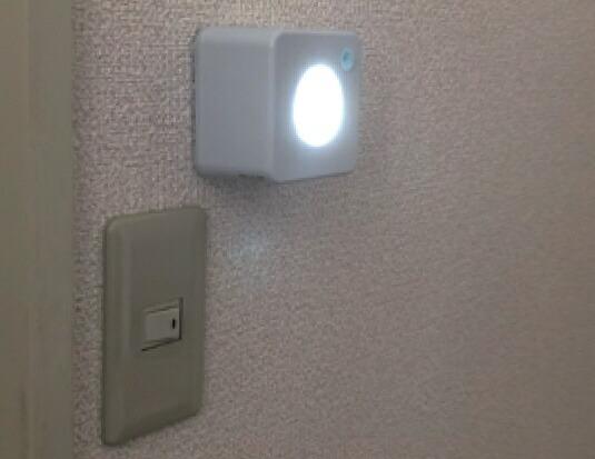リーベックスREVEXセンサーライトやさしく光る角型SL102