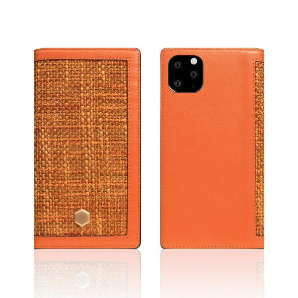 ROAロアiPhone11ProEditionCalfSkinLeatherDiaryオレンジ