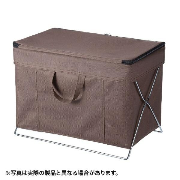 サンワサプライSANWASUPPLY折りたたみ式蓋付き手荷物収納ボックスブラウンCB-BOXTW1BR