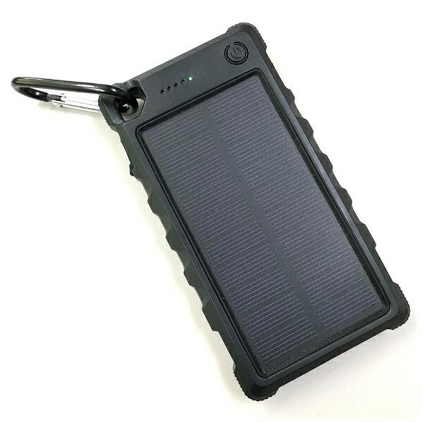 ヒースHI-SSソーラー充電機能付きモバイルバッテリーブラックHSB-C10000[10000mAH/2ポート/充電タイプ]