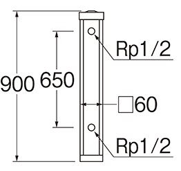 三栄水栓SANEI木目調水栓柱T80360X900LBR