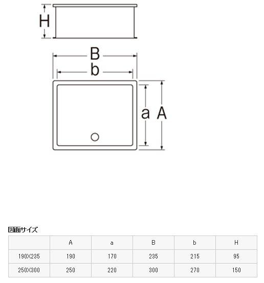 三栄水栓SANEI散水栓ボックス(床面用)R815190X235