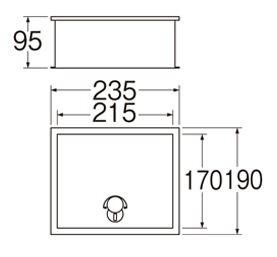 三栄水栓SANEIカギ付散水栓ボックス(床面用)R816