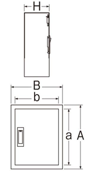 三栄水栓SANEIカギ付散水栓ボックス(壁面用)R812245X200