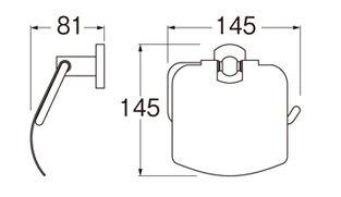 三栄水栓SANEIペーパーホルダーW3700