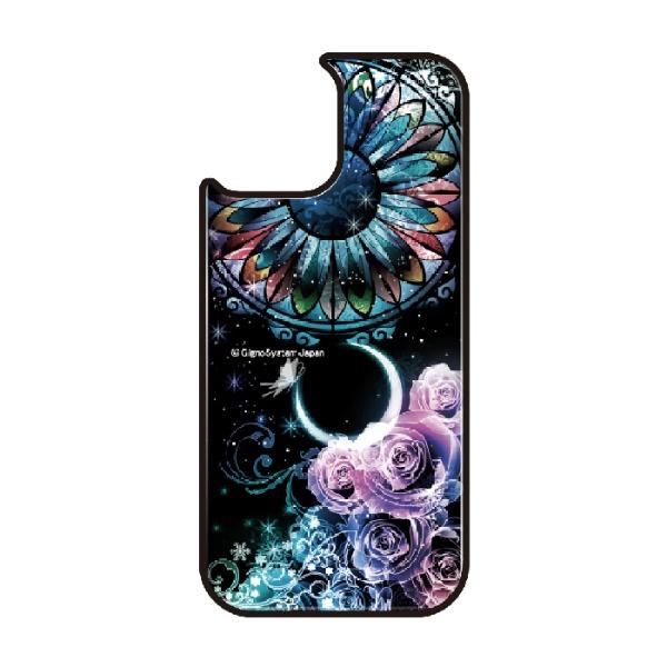 藤家FujiyaiPhone11ProVESTI着せ替え用背面カバー(ガラスハイブリッド)幻想デザインB.ステンドグラスローズVESTIB.ステンドグラスローズvegp7418-b-ip11pro