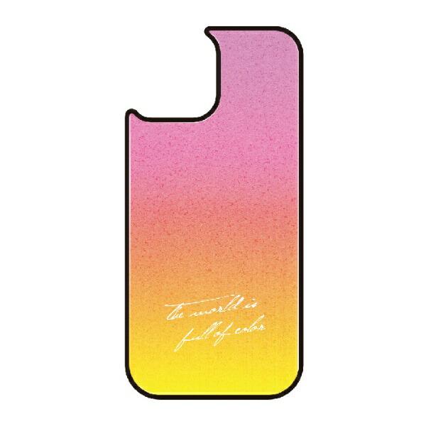 藤家FujiyaiPhone11VESTI着せ替え用背面カバー(ガラスハイブリッド)B.ピンク×イエローVESTI