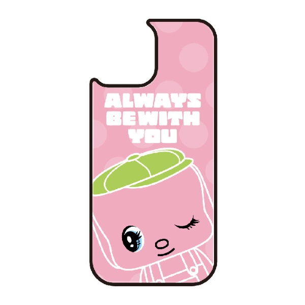 藤家FujiyaiPhone11ProVESTI着せ替え用背面カバー(ガラスハイブリッド)どうぶつのりフエキくんE.ピンクVESTIvegp7410-e-ip11pro