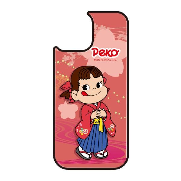藤家FujiyaiPhone11VESTI着せ替え用背面カバー(ガラスハイブリッド)不二家O.ペコ和柄ピンクVESTIvegp7426-o-ip11