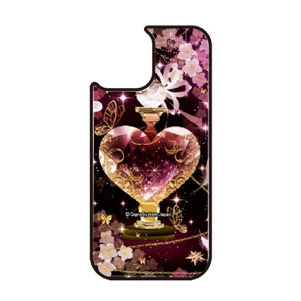 藤家FujiyaiPhone11VESTI着せ替え用背面カバー(ガラスハイブリッド)幻想デザインT.ピンクボトルVESTIT.ピンクボトルvegp7418-t-ip11
