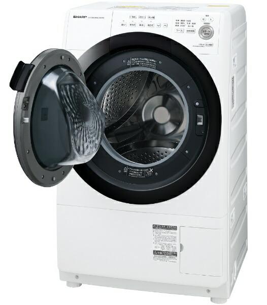 シャープSHARPES-S7E-WLドラム式洗濯乾燥機ホワイト系[洗濯7.0kg/乾燥3.5kg/ヒーター乾燥(水冷・除湿タイプ)/左開き][洗濯機7kgコンパクトサイズマンション]