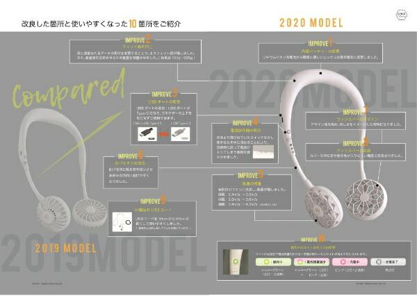 スパイスSPICEW-fanマルチカラーモデルグリーン&ホワイトDF202GWH[首掛け携帯扇風機ハンズフリー]