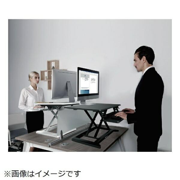DMM.MAKE卓上昇降デスクシングルタイプ[W680xL480xH45〜405mm]ブラックDKS-LDS680B