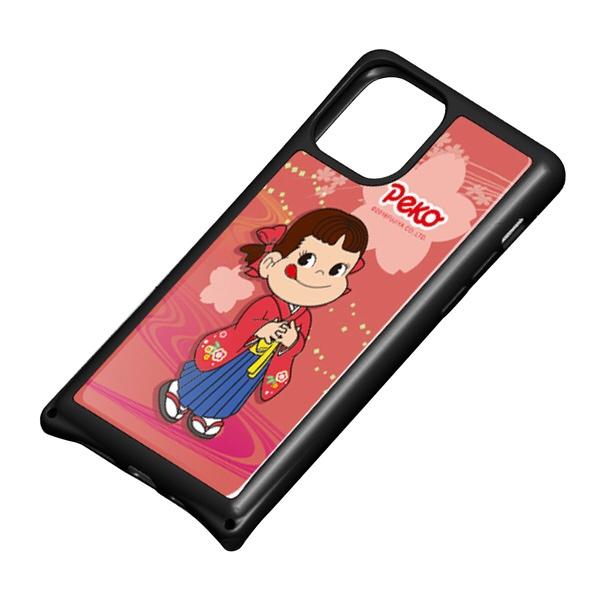 藤家FujiyaiPhone11Pro不二家ガラスハイブリッドO.ペコ和柄ピンクghp7050-bk-o-ip11pro